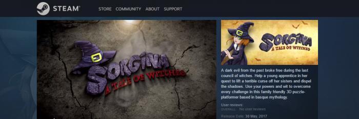 Sorgina: A Tale of Witches, salto responsable a Steam