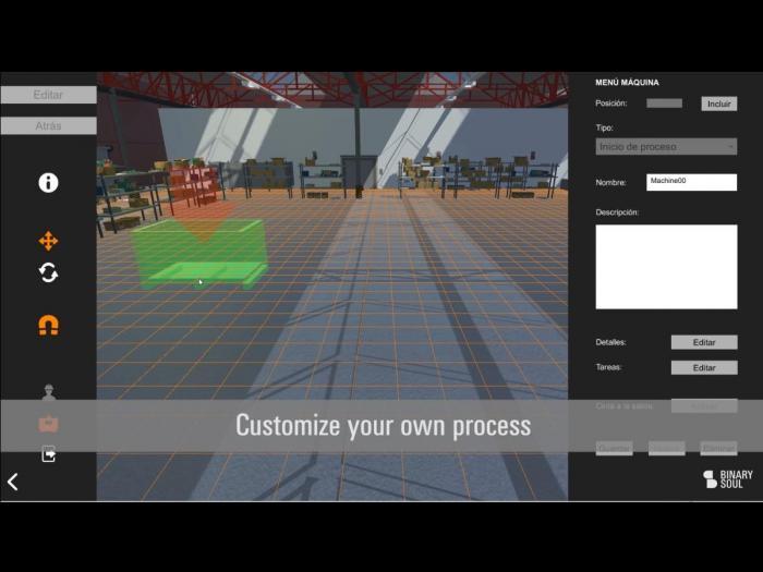 Captura de la demo de GTS, herramienta centrada en la capacitación virtual de trabajadores