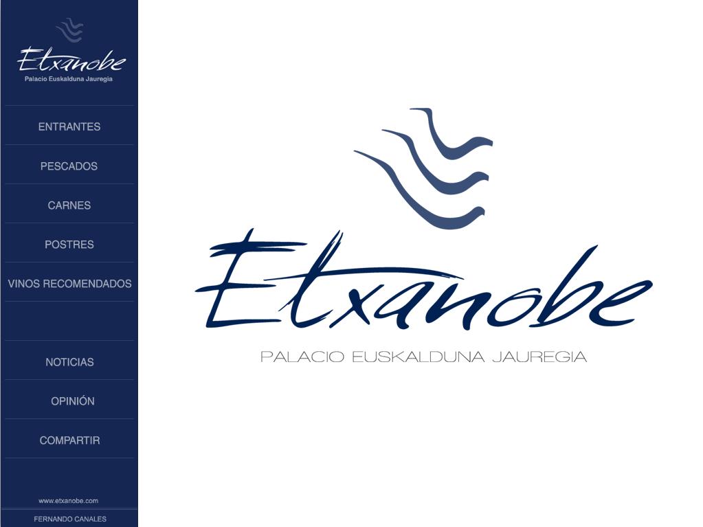 Etxanobe ipad menu interactivo