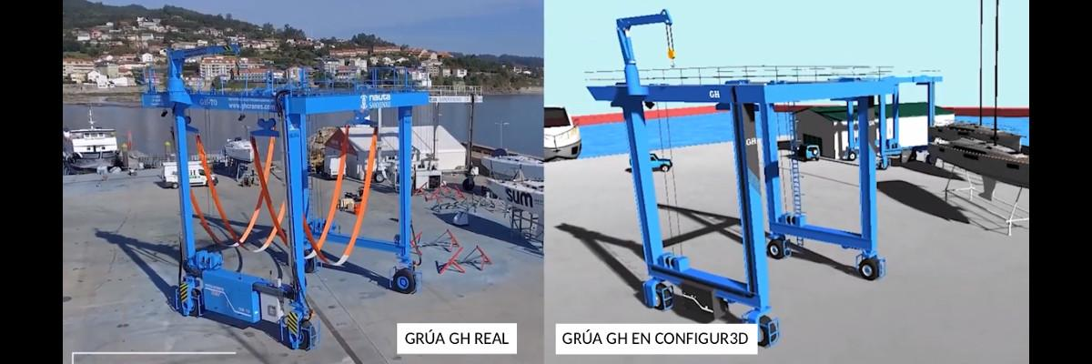 Grúa GH real y grúa GH en Configur3d