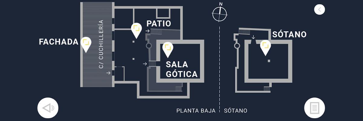 Casa Del Cordón app - Mapa