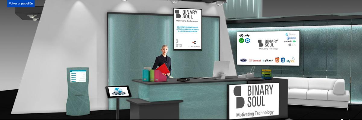 Stand virtual de Binary Soul en el Foro de empleo Deusto