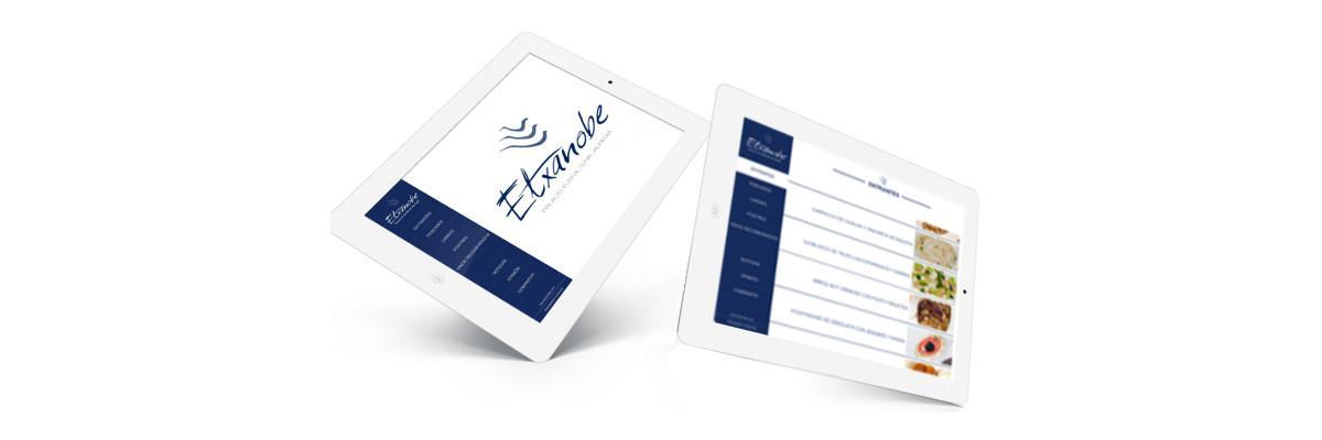 Etxanobe menú virtual